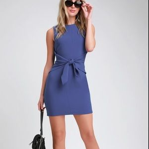 New Lulus Aylin Royal Blue Tie front sleeveless